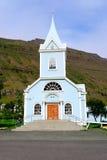 Seydisfjordur Kirche in Island Lizenzfreies Stockbild