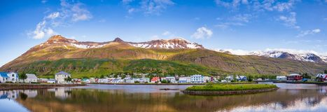 Seydisfjordur panorama Eastern Iceland Scandinavia royalty free stock photography