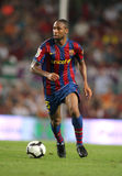 Seydou Keita. Futbol Club Barcelona player Seydou Keita during Spanish League match between Barcelona vs Sporting Gijon at the New Camp Stadium in Barcelona on Stock Photos