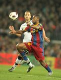 Seydou Keita. Futbol Club Barcelona player Seydou Keita in action during spanish league match between FC Barcelona and Valencia CF at Nou Camp Stadium in Stock Photography