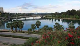 Seyhan Fluss in Adana, die Türkei. Lizenzfreies Stockbild