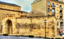 Seyid Yahya Mosque in the old town of Baku Stock Image