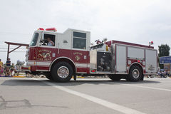 Seymour Fire Department Engine One Truck Passing View Royalty Free Stock Image