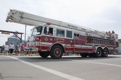 Seymour Fire Department Snorkel 3 Truck Side View Royalty Free Stock Photos