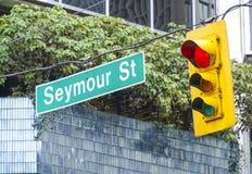 Seymour gata i Vancouver - VANCOUVER - KANADA - APRIL 12, 2017 Royaltyfri Bild