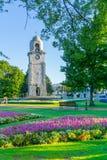 Seymour Park in den Stadtmorgenschattenfarben und -Blendenfleck lizenzfreies stockbild