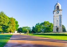 Seymour Park in den Stadtmorgenschattenfarben und -Blendenfleck lizenzfreie stockfotos