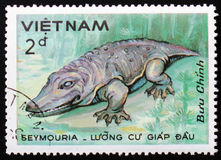Seymouria,系列恐龙,大约1984年 免版税库存图片