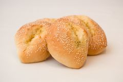 Sezamowe Chlebowe rolki fotografia royalty free