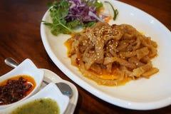Sezamowego oleju jellyfish zakąski chiński jedzenie zdjęcie royalty free
