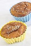 sezamowi muffins ziarna Zdjęcia Stock