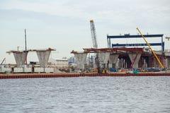 Sezione centrale della costruzione del diametro ad alta velocità occidentale Immagine Stock Libera da Diritti