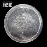 Sezione circolare di ghiaccio incrinato fotografie stock