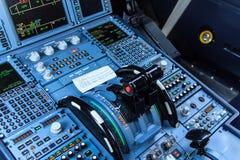Sezione comandi della cabina di guida Fotografie Stock Libere da Diritti