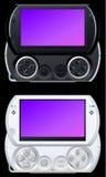 Sezione comandi portatile del video gioco Fotografie Stock Libere da Diritti