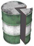 Sezione del tamburo di olio Immagini Stock