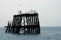Sezione di Brighton Pier anziano immagine stock libera da diritti