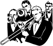 Sezione di Horn del big band Royalty Illustrazione gratis