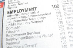 Sezione di job Immagine Stock Libera da Diritti