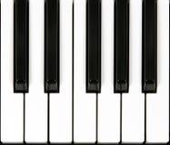Sezione di tastiera del piano Fotografie Stock