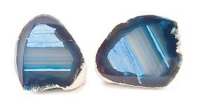 Sezione di un geode bianco e blu immagini stock libere da diritti