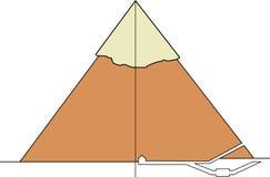 Sezione di una piramide reale Fotografie Stock