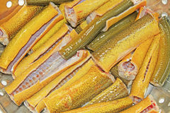 Sezione Finless dell'anguilla pronta per cucinare Fotografia Stock