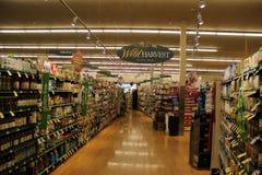 Sezione organica in supermercato Immagine Stock Libera da Diritti