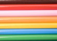 Sezione trasversale colorata della matita Fotografie Stock Libere da Diritti