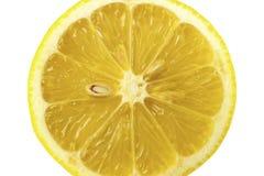 Sezione trasversale del limone fotografia stock libera da diritti