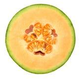 Sezione trasversale del melone di melata Fotografia Stock Libera da Diritti