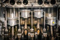 Sezione trasversale del pistone del motore fotografie stock