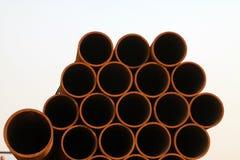 Sezione trasversale del tubo di acciaio senza cuciture Fotografie Stock Libere da Diritti