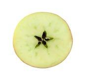 Sezione trasversale della fetta della mela rossa Immagini Stock Libere da Diritti