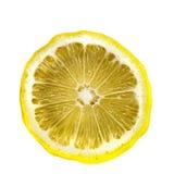 Sezione trasversale di un limone isolato su fondo bianco Fotografie Stock