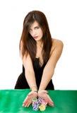Sezioni in un gioco delle roulette immagine stock libera da diritti