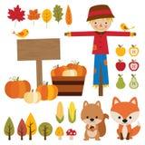 Sezonów Jesiennych elementy ilustracja wektor