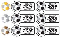 2014 - 2016 sezonów piłkarskich znaków Z medalami Obraz Royalty Free