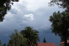 Sezonowa burzowa lato pogoda Gauteng Południowa Afryka zdjęcia royalty free