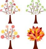 Sezonowe Drzewne ilustracje Fotografia Stock
