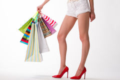 Sezonowe sprzedaże w butikach obraz stock