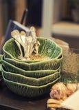 Sezonowi dekoracyjni talerze Fotografia Royalty Free