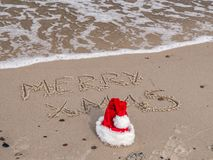 Sezonowi powitania od plaży Obraz Stock