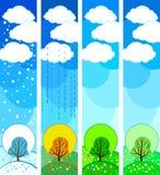 sezonowy drzewo ilustracja wektor