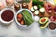 Sezonowy jarosz, weganinów kulinarni składniki fotografia royalty free