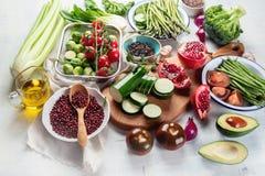 Sezonowy jarosz, weganinów kulinarni składniki obraz stock