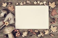 Sezonowy mockup blackboard dla spadku, tekst przestrzeń Fotografia Stock