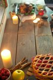 Sezonowy posiłku tło zdjęcia stock
