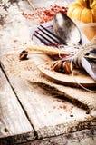 Sezonowy stołowy położenie obraz royalty free