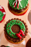 Sezonowy świąteczny Bożenarodzeniowy mini deser Zdjęcia Stock